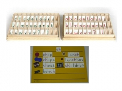 Advanced Moveable Alphabet Boxes w/Letters & 4 Boards