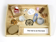 Pink Interpretive Sentences with Objects & Tray